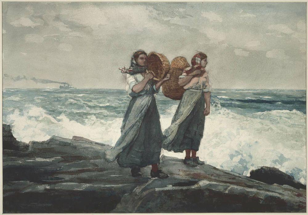 """""""A Fresh Breeze,"""" 1880,Winslow Homer"""