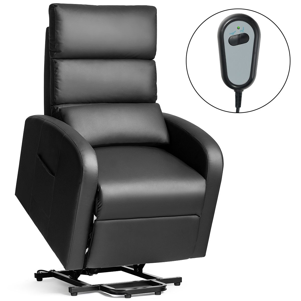 Costway electric power lift massage sofa leather recliner