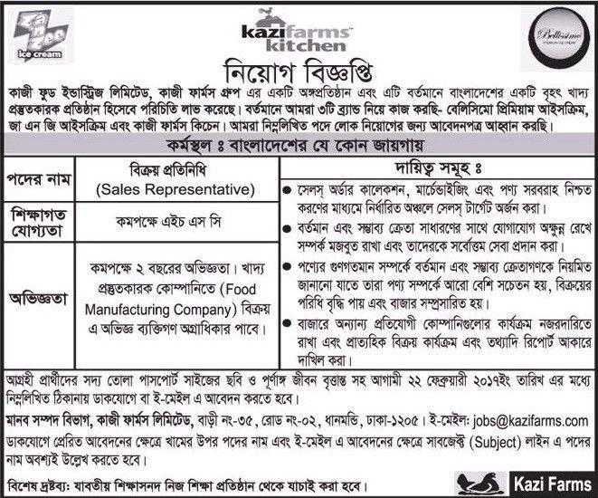 Kazi Food Industries Limited Job Circular Job circular