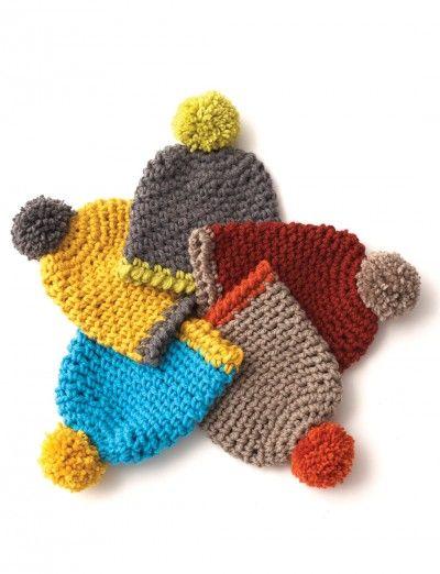 Easy Kid-Size Crochet Hat: free crochet pattern   Yarnspirations ...