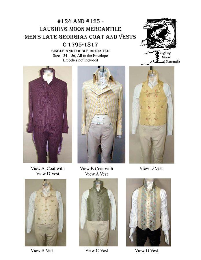 Pattern # 124/125 | Tailcoats | Pinterest | Sewing patterns, Pattern ...