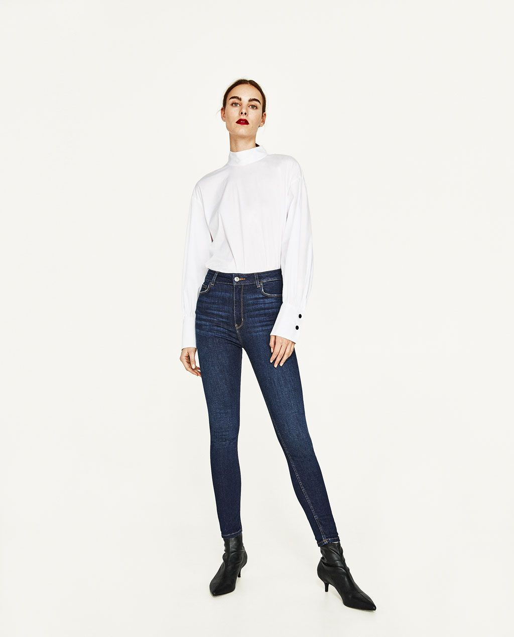 243d2669 Image 2 of HIGH RISE SKINNY JEANS from Zara | Peg | Jeans, Zara ...