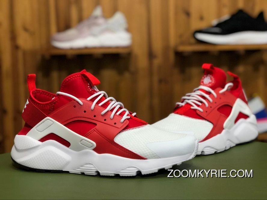 19ea5d1855724 Nike Air Huarache Run Ultra 847568 116 White Red-White Running Shoes New  Year Deals