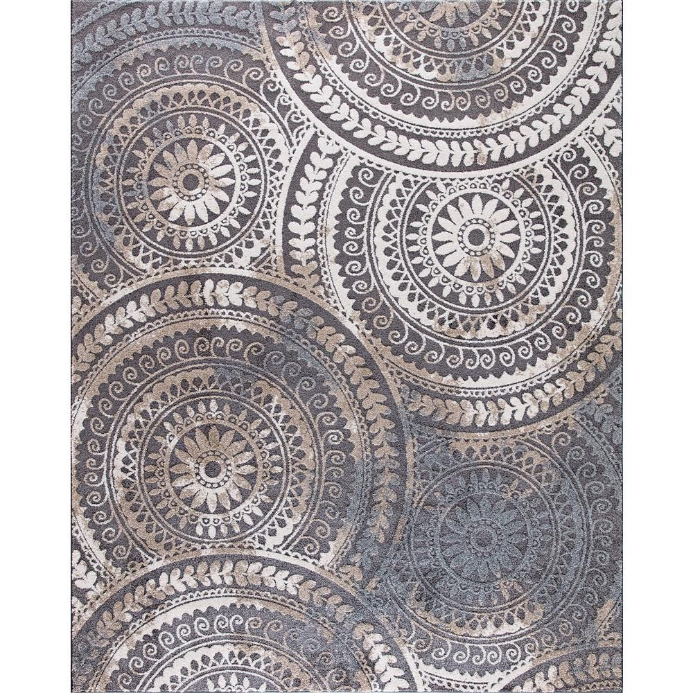 Home Decorators Collection Spiral Medallion Gray 9 Ft X 13 Ft