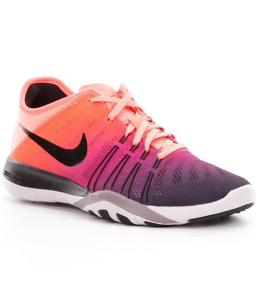 78ba2e8833fd Bright Mango Bleached Lilac Purple Smoke Black Nike Women´s Free TR 6  Spectrum Training Shoes