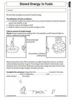 Stored energy in fuels (Grade 5) | Energy and change | Pinterest ...