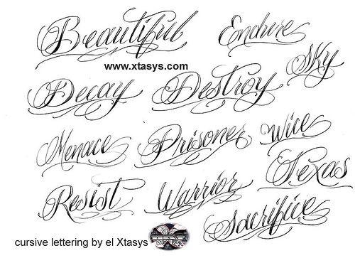 fonts tattoo picture 720px tattoo cursive fonts 06 tattoo cursive ...