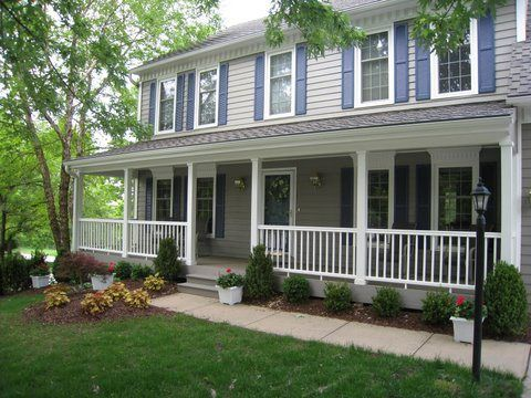 exquisite front porch designs for colonial homes. House  Front porch Azek trimmed columns Evergrain flooring Overland