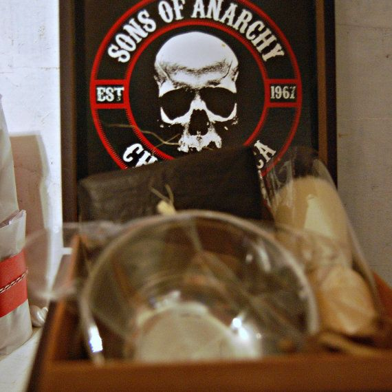 Sons Of Anarchy Collectible Cigar Box Gift Set Soa Etsy Cigar Box Wooden Cigar Boxes Handmade Soap Bar