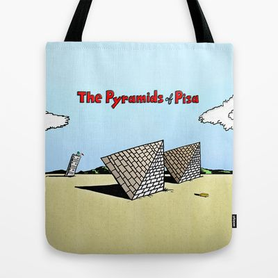 The Pyramids of Pisa Tote Bag by Peter Gross - $22.00