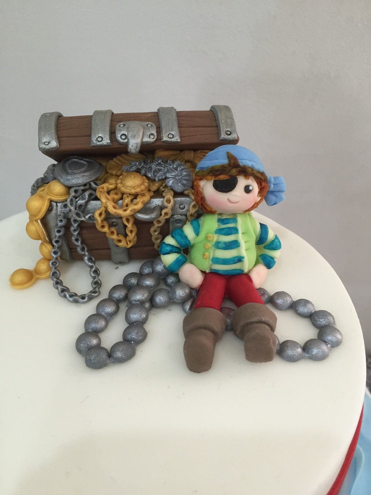 Finding The Hidden Treasure Pirate Cake Topper For Boys Birthday
