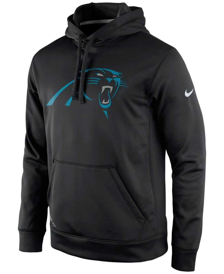 sports shoes 251c9 029ca Nike Men's Carolina Panthers Performance Po Dri-fit Hoodie ...