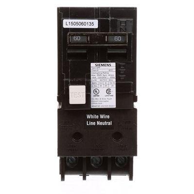 Siemens QP 60-Amp Double-Pole Ground Fault Circuit Breaker