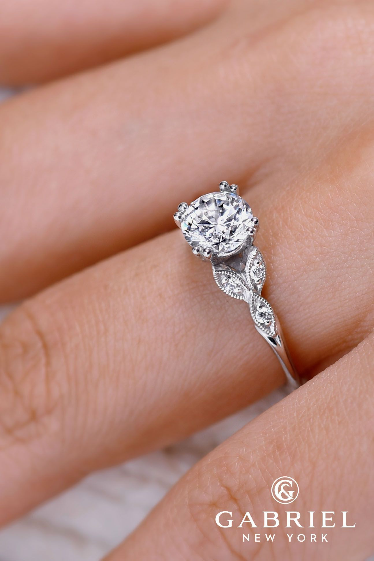 24 gabriel co engagement rings extraordinaire - Cubic Zirconia Wedding Rings That Look Real