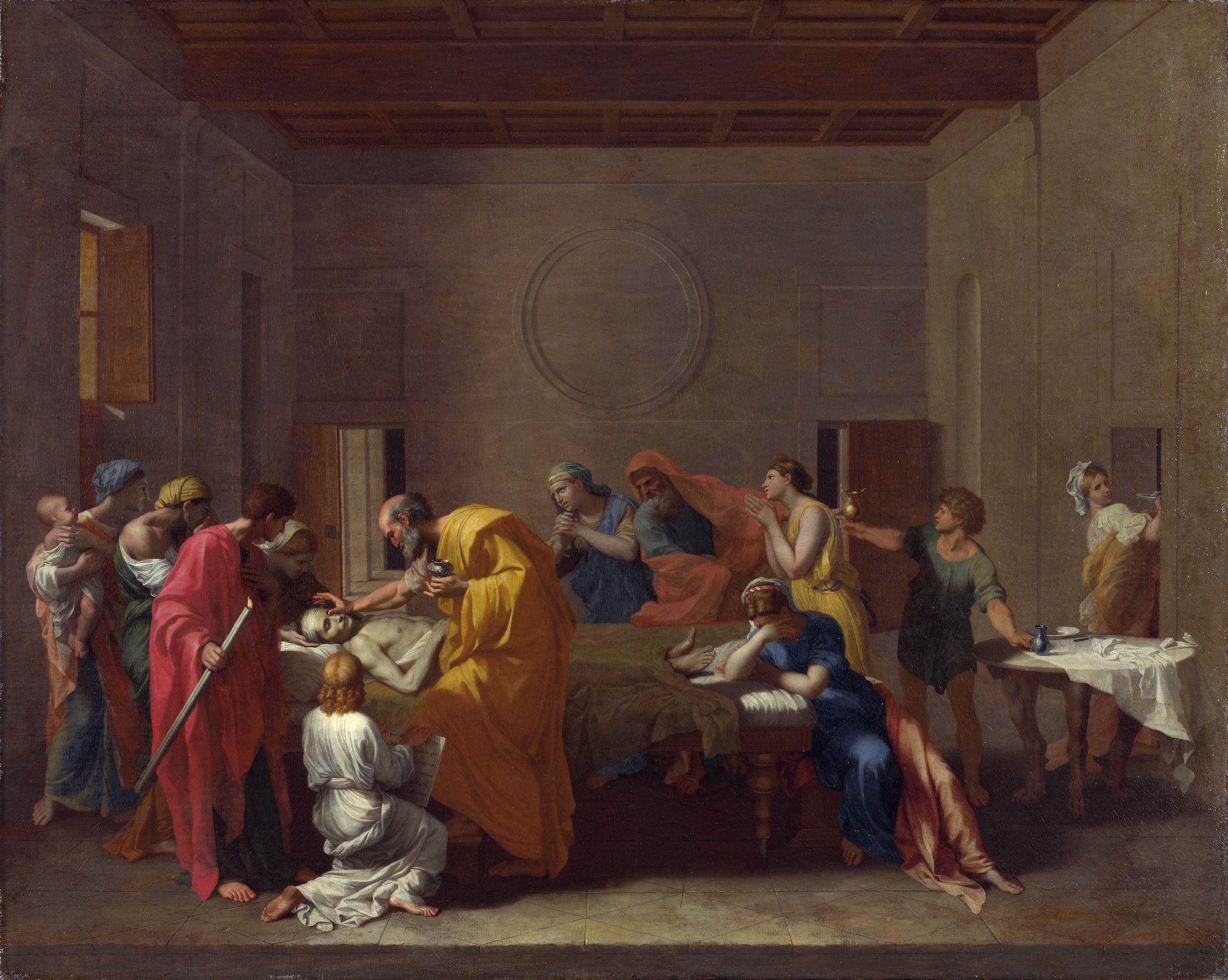 Пуссен - Таинства Церкви. Соборование (1637-1640) (Лондон ...