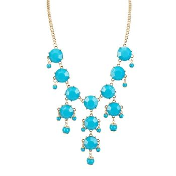 Stephan and Co. Juniors Jeweled Chandelier Necklace #VonMaur #StephanandCo #Turquoise