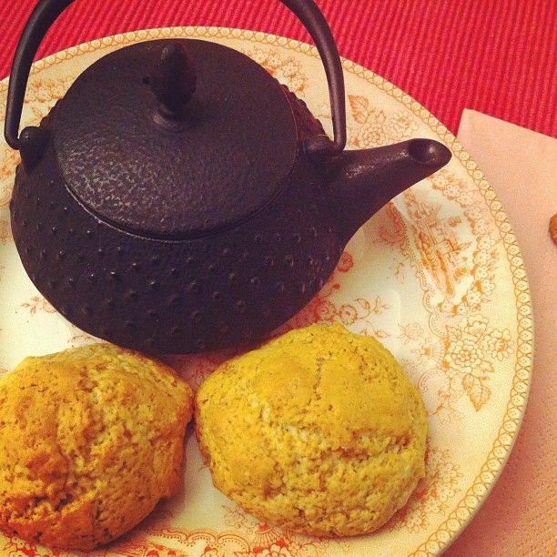#tea #time! #homemade #scones #iron #teapot #bimby - @ritzdesousa- #webstagram