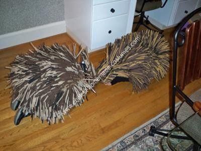 how to make porcupine quills for costume