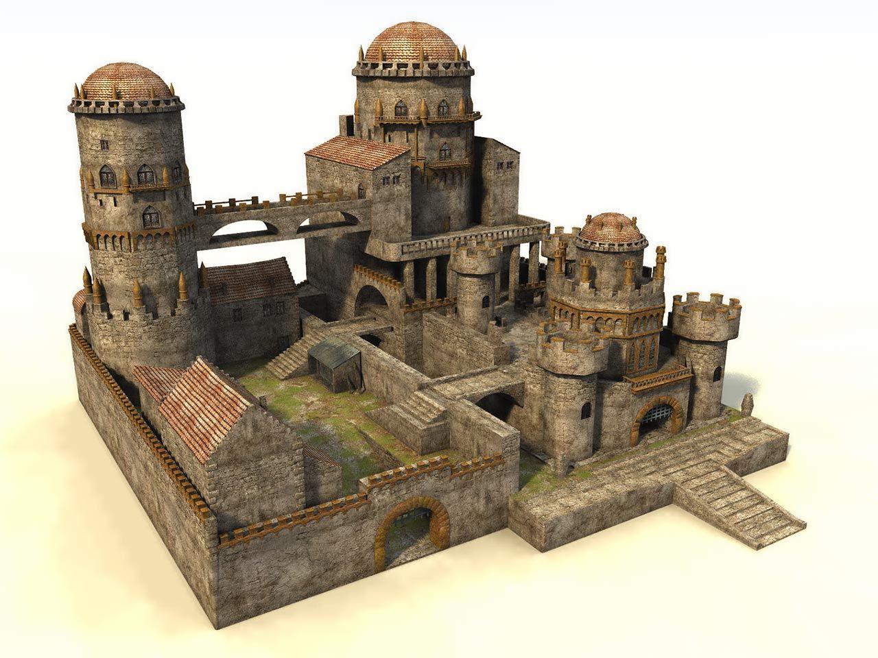 Fantasy architecture real models google for Castle design software
