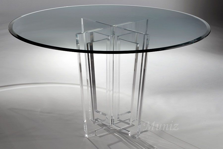 Victoria Acrylic Dining Table Metal Round Dining Table Glass