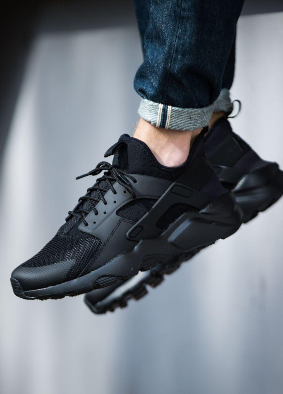 Sportswear Sneakers Nike Air Huarache Run Ultra Blackout Sneakers Men Fashion Nike Air Huarache Ultra Nike Air Huarache