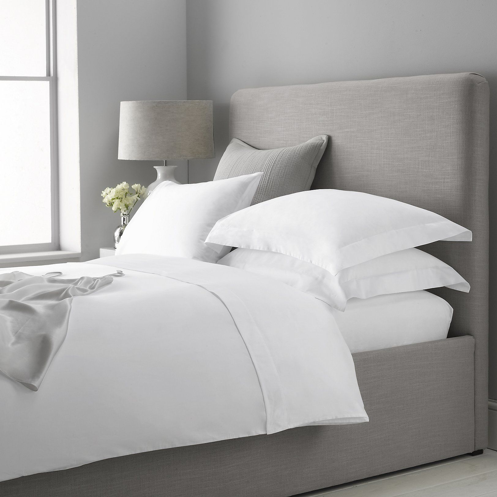 300 Thread Count Egyptian Cotton Sateen Bed Linen Collection | Bed Linen |  The White Company