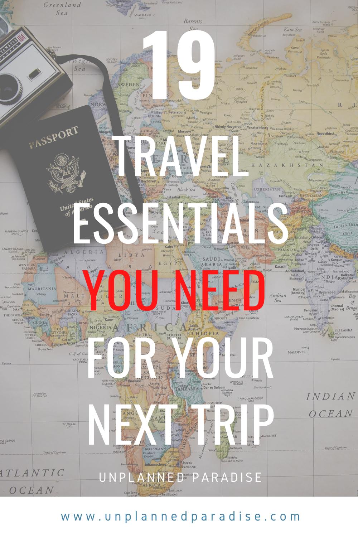 Pin Auf Travel Essentials