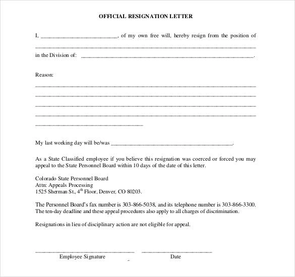 14+ Job Resignation Letter Templates (With images) Job