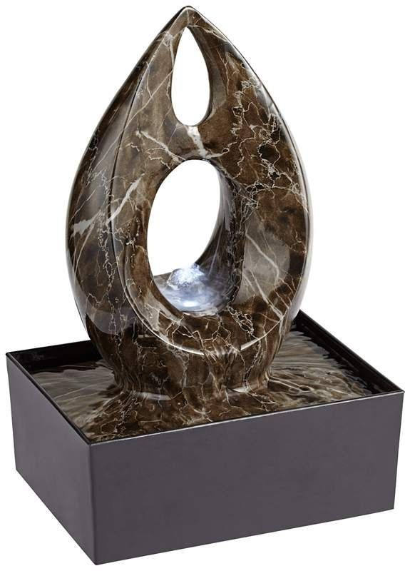 Wonderful Modern Abstract LED Tabletop Fountain | EBay