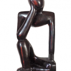 Hand Carved Thinking Man From Ghana Africa In Solid Ebony Wood Ebony Wood Carving Thinking Man