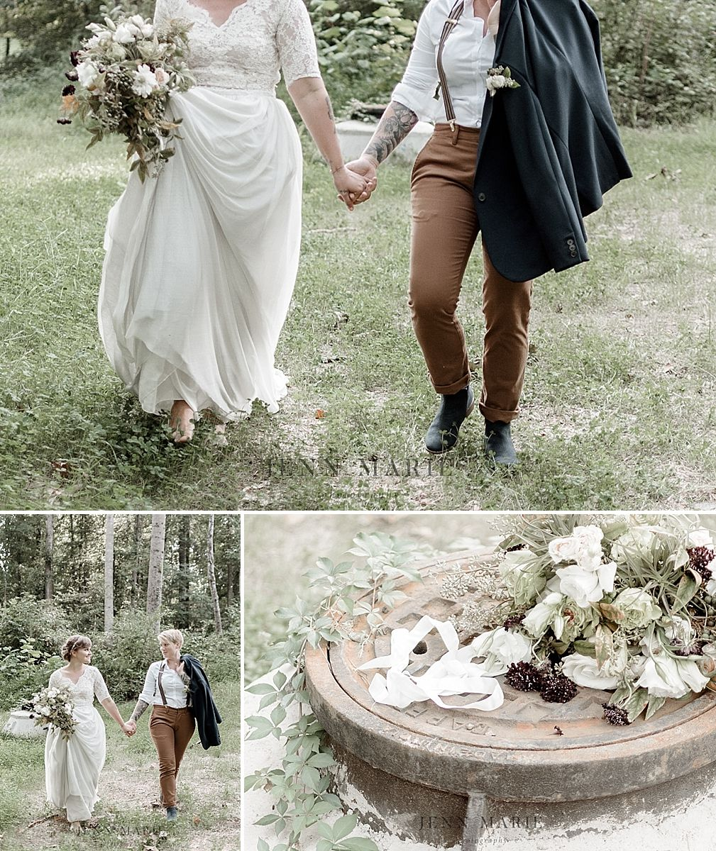 Lgbtq wedding outdoor wedding wedding bouquet richmond wedding