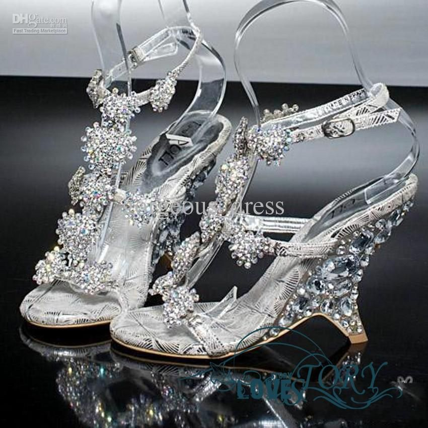 Wholesale 2012 New Diamond Crystal Shoe Sandals With