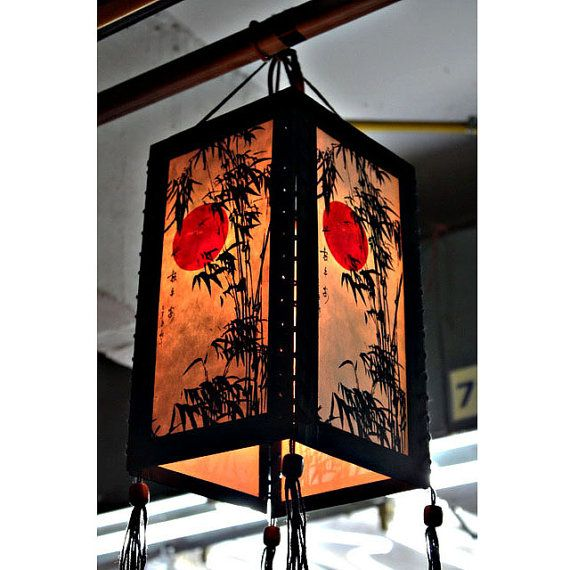 Zen Hanging Lamp Lighting Wood Pendant Shade Lantern Chinese Paper Lampshade Home Decor Garden Bamboo Ha01