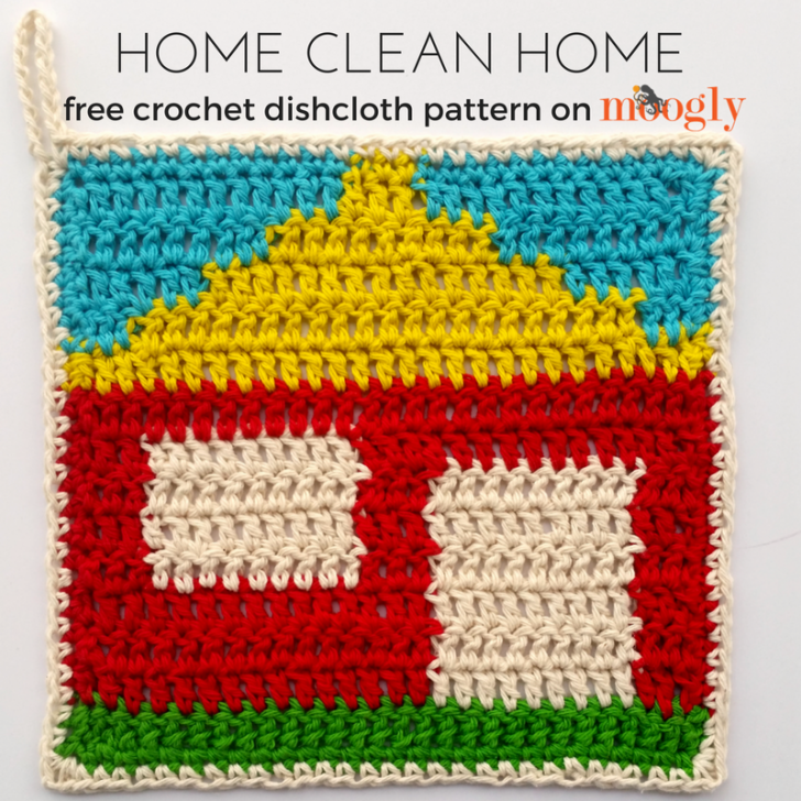 Home Clean Home Dishcloth - Free #Crochet Pattern on | Free crochet ...