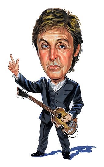 Paul McCartney Artwork By ExaggerArt