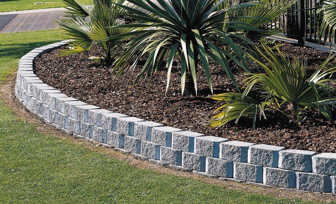 13 Amazing Landscape Border Stone Pic Ideas Cinder Block 400 x 300