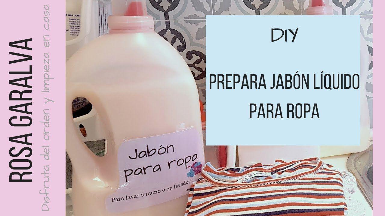 Comohacer Jabonpararopa Prepara Jabón Líquido Para Ropa En Casa Youtube Jabon Casero Para Lavadora Jabon Liquido Jabones