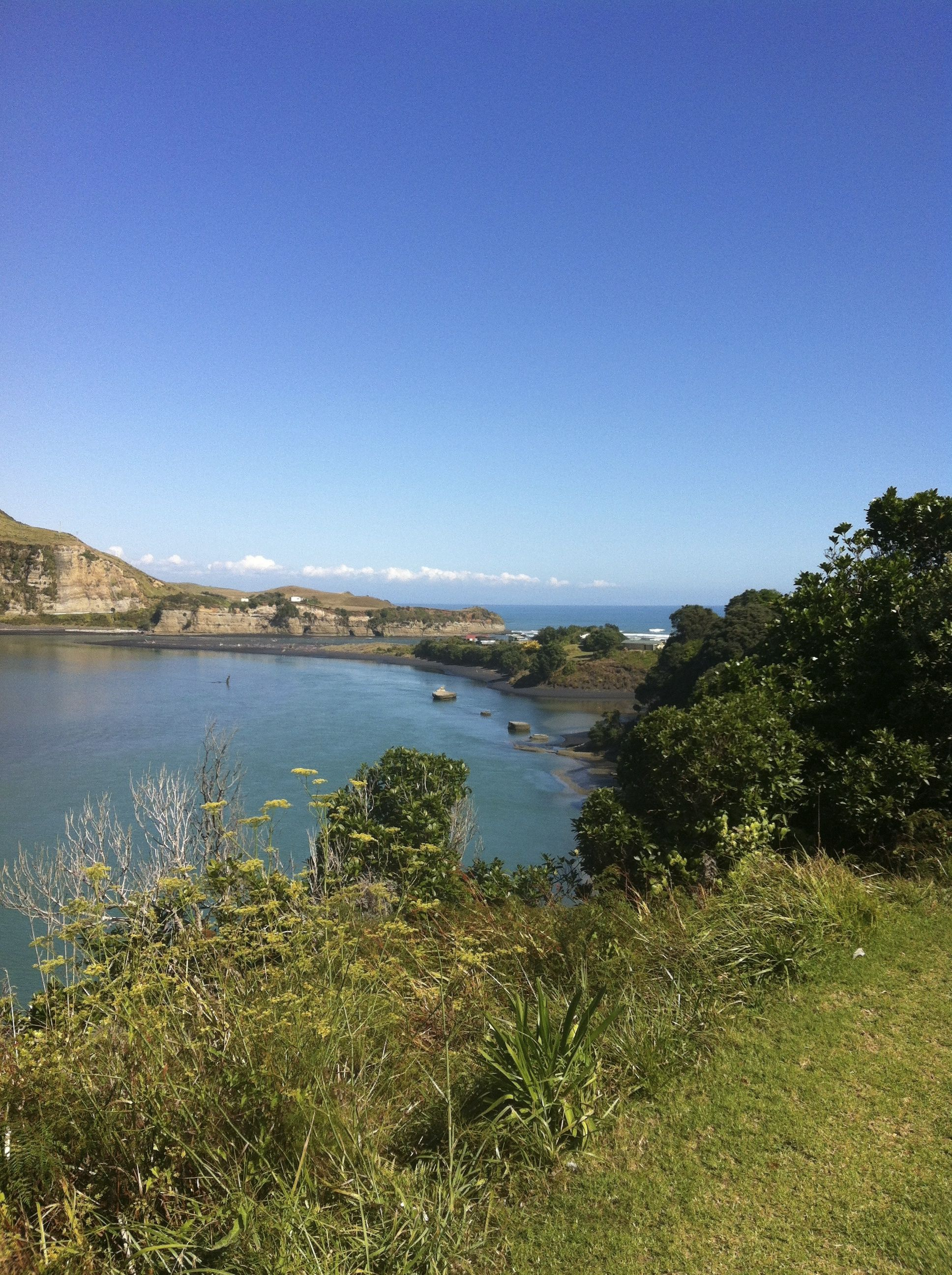 Taranaki sea views.