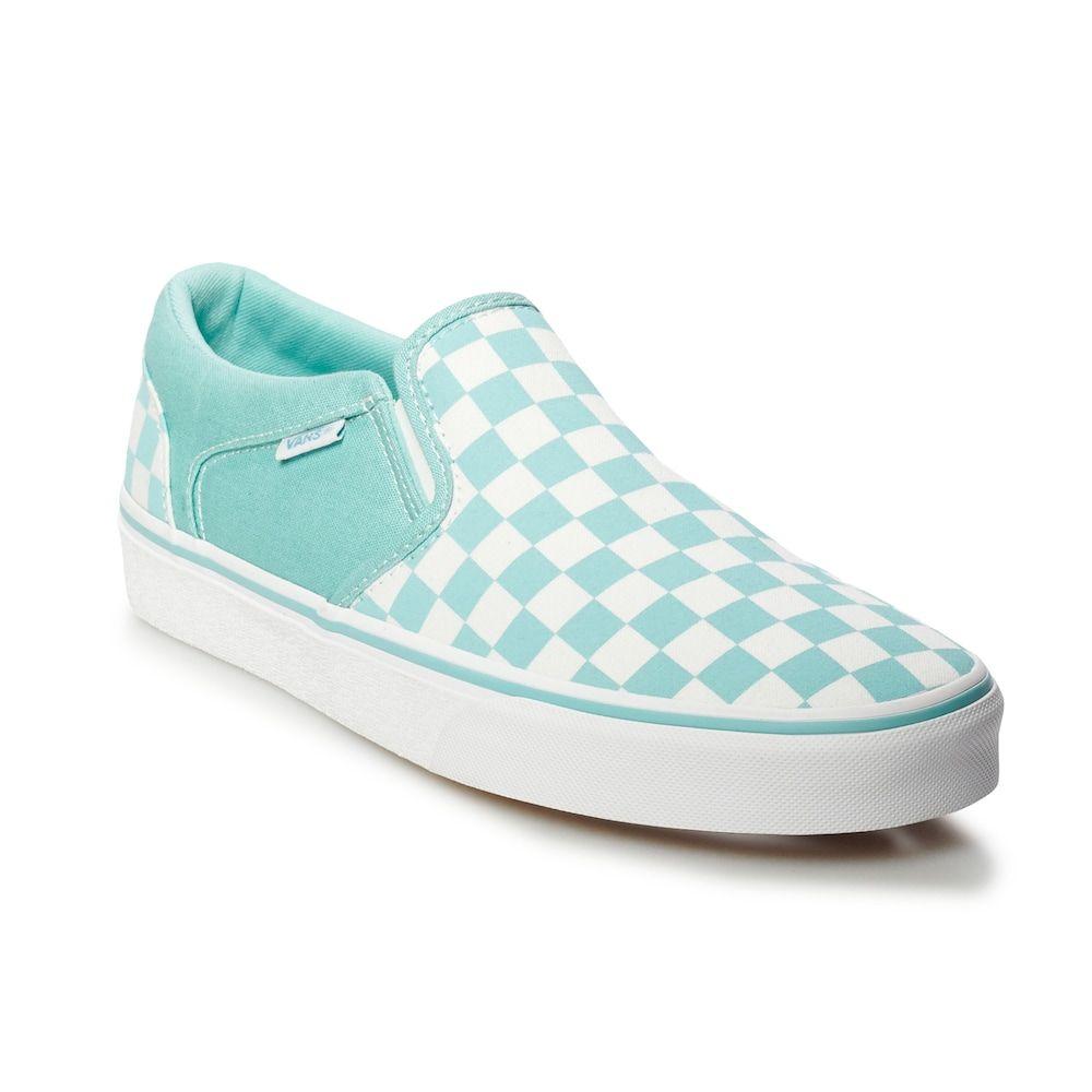 Vans® Asher Men's Checker Skate Shoes | Vans shoes women, Skate ...