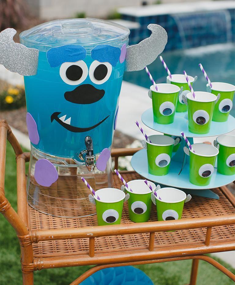 Diy monsters inc drink station monster 1st birthdays