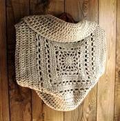 Crocheting: Granny Square Circle Sweater Shrug
