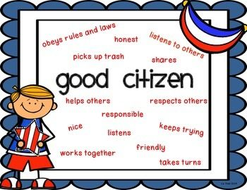 Good Citizen Poster | Good citizen, Character education posters ...