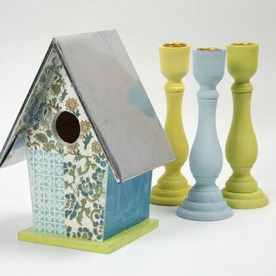 A Bird Box decorated with Handmade Paper