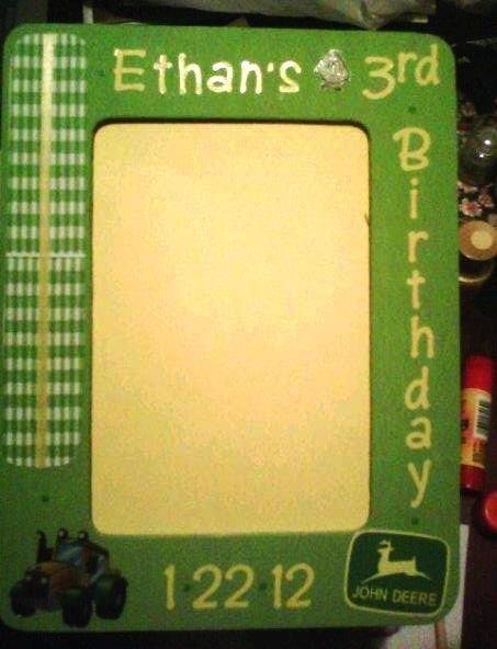 John Deere Picture Frame | ✂DIY Craft Ideas | Pinterest | Birthdays