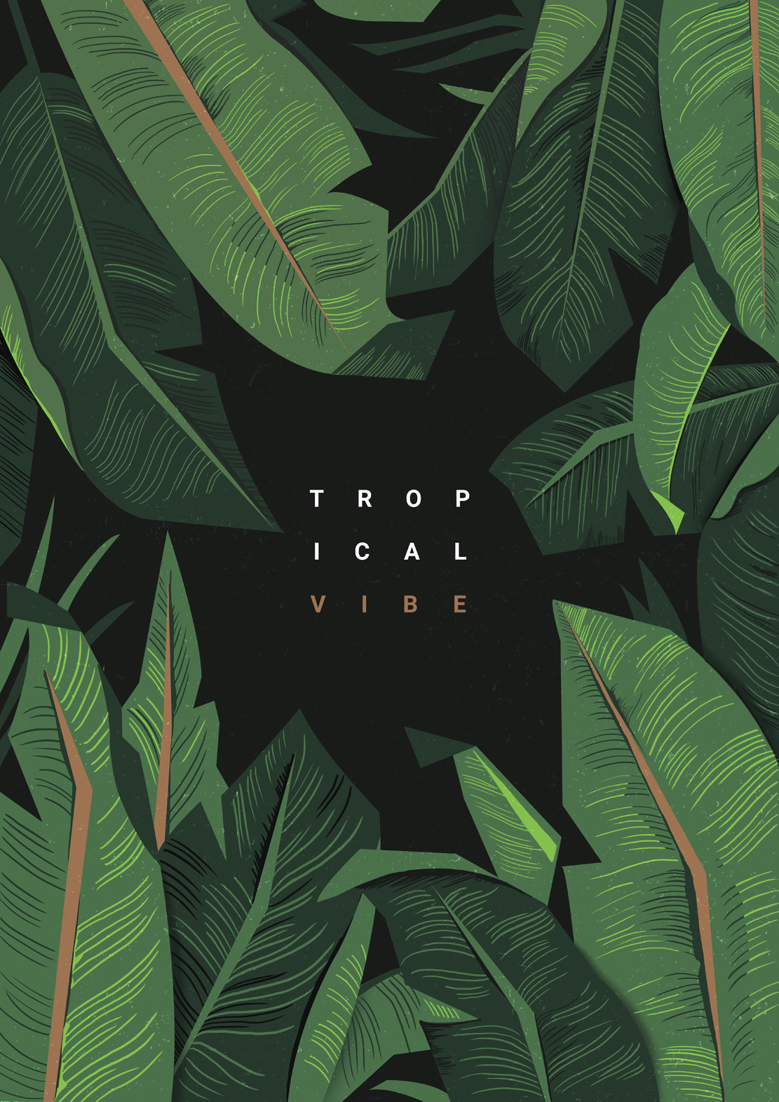 Tropical Vibe Poster Illustrated Posters In 2019 Tropical Vibes Tropical Tropical Wallpaper