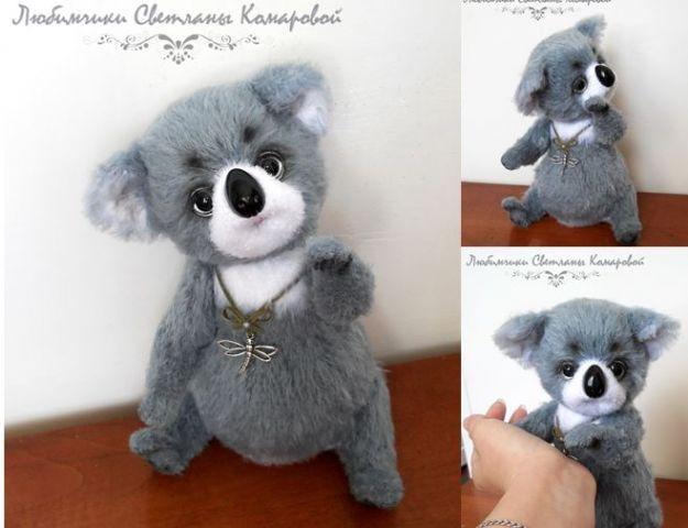 Эви  коала загрузил в Что связалось - тем и любуемся: крючком из  кхт,25см
