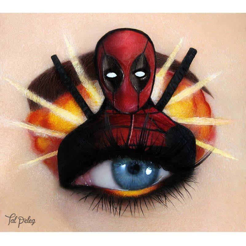 Preen.Me makeup artist Tal P gives tribute to Marvel's unconventional anti-hero, #Deadpool, and her work is insanely stunning! Check out the look's details here: