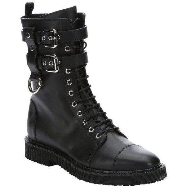 Giuseppe Zanotti Black Lug Sole Biker Boots bsvRObqm