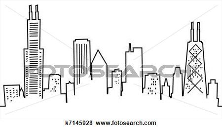 Cartoon Chicago Skyline Stock Illustration Chicago Skyline