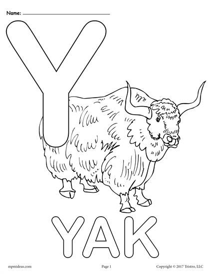 Letter Y Alphabet Coloring Pages 3 Printable Versions Alphabet Coloring Alphabet Coloring Pages Coloring Letters